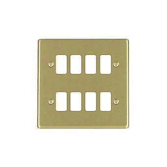 Hamilton Litestat Hartland Satin Brass 8g Apert Gridfix Plate+Grid