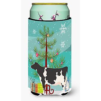 Holstein Cow Christmas Tall Boy Beverage Insulator Hugger