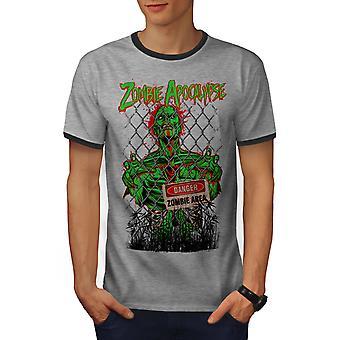 Maailman loppu kuoleman miesten Heather Grey / Heather tumma GreyRinger t-paita | Wellcoda