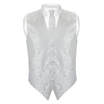 """תחתוני גברים פייזלי שמלת התאמה לאפוד עניבה 2.5 """"הלבוש עניבה האנקי סט"""