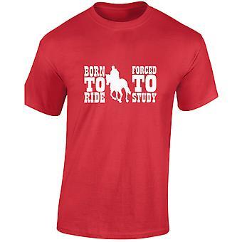 Né à Force de Ride d'étude cheval équestre Kids Unisex T-Shirt 8 couleurs (XS à XL) par swagwear