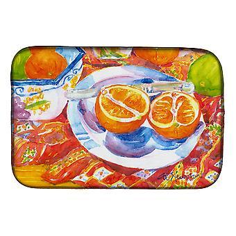 Florida Oranges Sliced for breakfast Dish Drying Mat