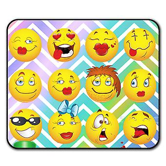 Emoticon Cool Joke Funny  Non-Slip Mouse Mat Pad 24cm x 20cm | Wellcoda
