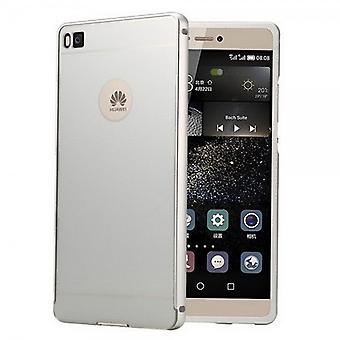 Aluminium bumper 2 pieces with cover silver for Huawei Ascend P8