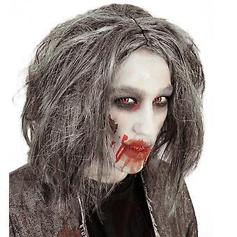 Parrucca di orrore di Halloween zombie grigio
