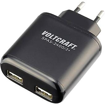 VOLTCRAFT SPAS-2400/2+ SPAS-2400/2+ USB charger Mains socket Max. output current 4800 mA 2 x USB