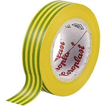 Coroplast 302 302-10-19GN/YE Electrical tape Green, Yellow (L x W) 10 m x 19 mm 1 pc(s)