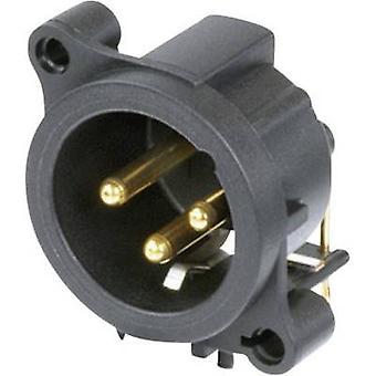 Conector Neutrik XLR NC3MAAH de manga, escuadra fija número de pernos: 3 negro 1 PC