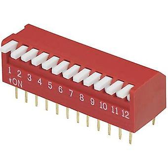 TRU COMPONENTS DP-12 Interruttore DIP Numero di pin 12 Pianoforte-tipo 1 pc(s)
