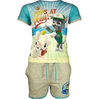 Αγόρια ER1255 πόδι περιπολίας σύντομη μανίκι T-shirt & σορτς σύνολο μέγεθος 3-6 χρόνια