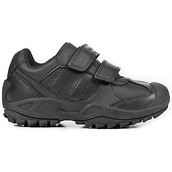 Geox chłopców Savage J841VB szkoły buty czarny
