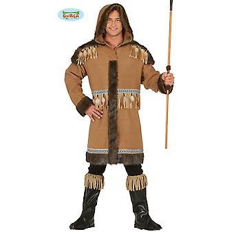 Costume esquimau pour hommes manteau hommes costume époque glaciaire animal hiver Arctique