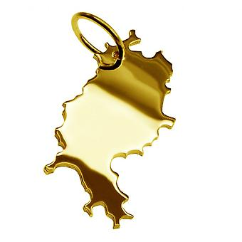 Trailer map pendants in gold yellow-gold in the form of HESSE