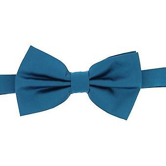 David Van Hagen oformaterad Satin Silk Bow Tie - Teal