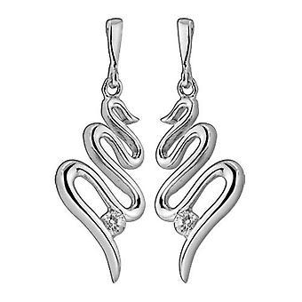 Drop Earrings 925 Sterling Silver Jewellery, White Zirconia