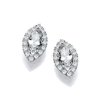 Cavendish French Marquise CZ Solitaire Earrings