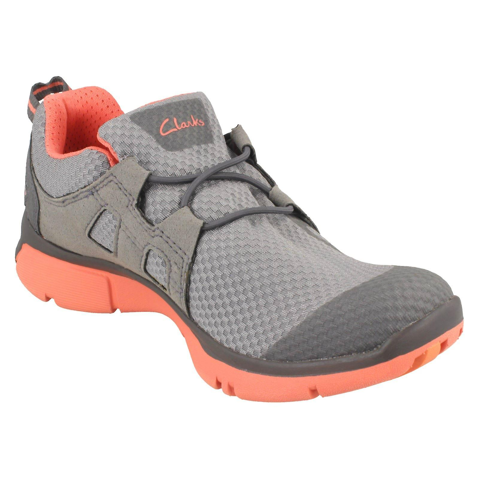 Ladies Clarks Active Wear Trainers Luminate Trace