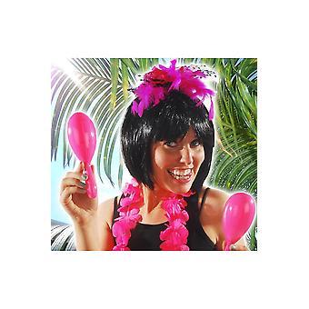 ハワイと熱帯の明るいピンク マラカス
