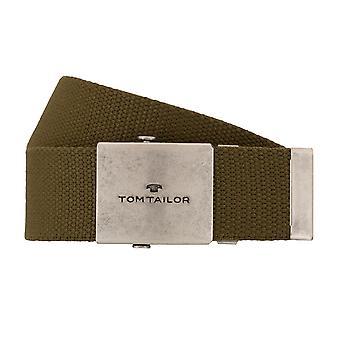 Homens de cinto TOM TAILOR têxtil correia olive jeans 7679