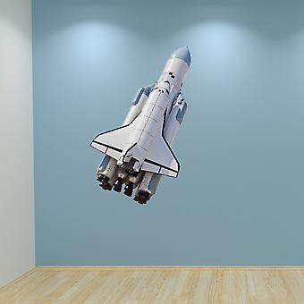 Full Colour Space Rocket muur Sticker