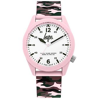 Hype | Ladies Camouflage Silicon Strap | White Dial | HYL019NP Watch