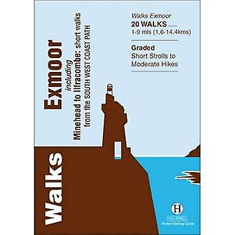 Walks Exmoor: Including Minehead to Ilfracombe: Short Walks from the South West Coast Path (Hallewell Pocket Walking...