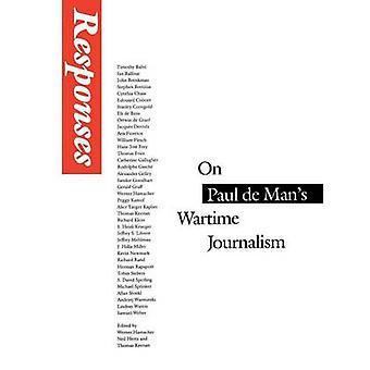 Responses On Paul de Mans Wartime Journalism by Hamacher & Werner