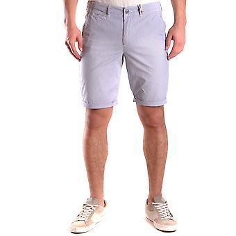Woolrich Ezbc033001 Men's Blue Cotton Shorts