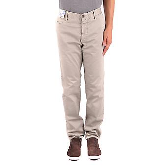 Incotex Ezbc093053 Men's Grey Cotton Pants