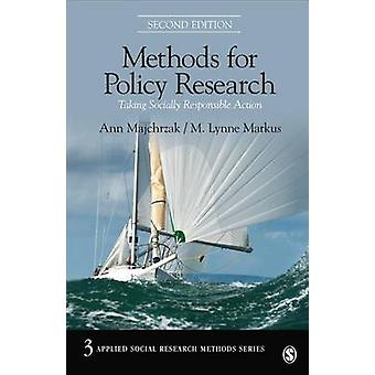 Methods for Policy Research by Majchrzak & AnnMarkus & M. Lynne