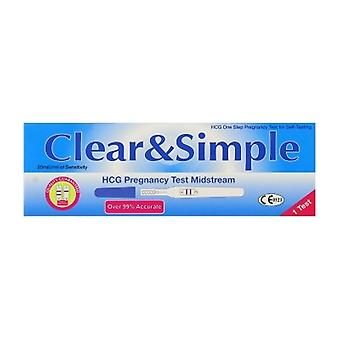 Clear & Simple Pregnancy Kit Midstream 1 Test