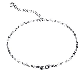 En argent Sterling 925 largeur 1mm diamant coupe Bow Anklet
