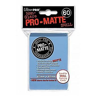 Ultra Pro Matte pequenas mangas de cartão-azul