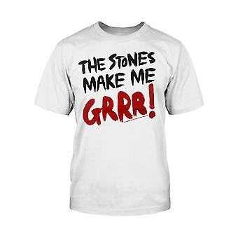 Official Kids White The Rolling Stones T Shirt The Stones Make Me Grrr new