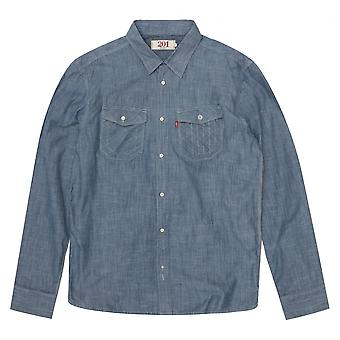 Levis Levi's Solid Blue Shirt