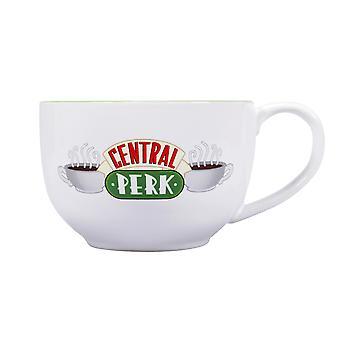 Amici XL tazza logo bianco/verde, stampato, 100% ceramica, capacità circa 500 ml.