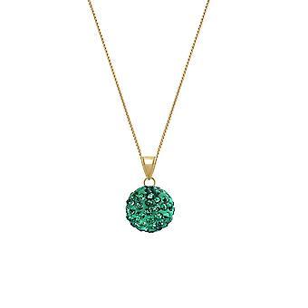 Ewige Sammlung Tarantella Smaragd Grün Diamante Goldton Anhänger Halskette