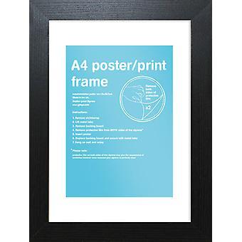 Eton marco negro A4 cartel / impresión marco