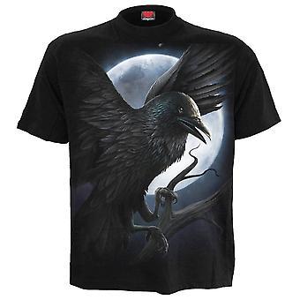 Spiral-Night varelse-mäns Kortärmad t-shirt, svart