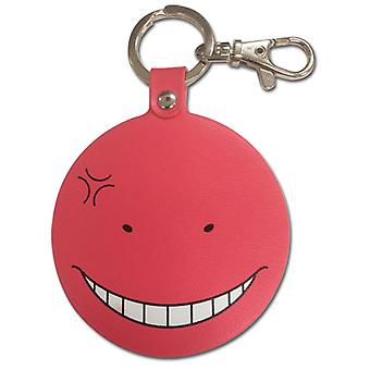 Key Chain - Assassination Classroom - Koro Sensei Angry RED PU Anime ge38593
