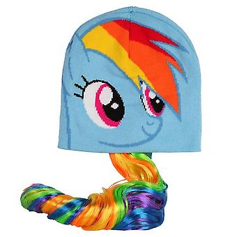 Beanie Cap - My Little Pony - Rainbow Dash w/ Long Tail New 199453