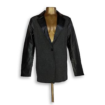 Linea de Louis Dell'Olio Women's Blazer Color Block Button Gray A268123