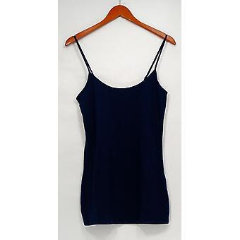G.I.L.I. tenho que amá-lo Top Knit longo cami alças ajustáveis azul A263312