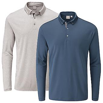 Ping Collection Mens Flynn LS SensorCool Moisture Movement Golf Polo Shirt