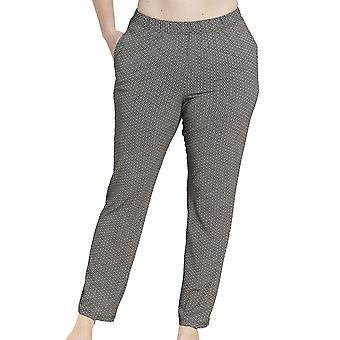Rösch 1194563-16370 Naiset's Käyrä Musta Täplikäs Tulosta Pyjama Pant