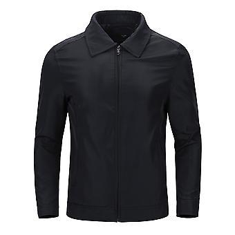 Allthemen Men ' s Jacket Lapel Slim Fit üzleti alkalmi cipzár Jacket