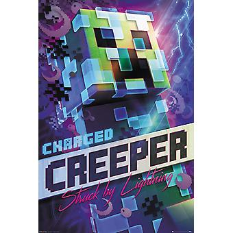Minecraft Poster Charged Creeper Struck By Lightning