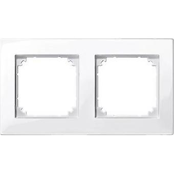 Merten 2x Frame M-Plan Polar white glossy 515219