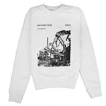 OFF-WHITE Off White Ruined Factory Crew Neck Sweatshirt White/black