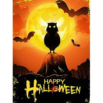 Happy Halloween Poster Wall Art Decoration (18x24)